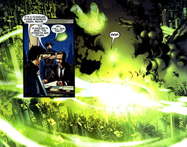 Chemo and the destruction of Blüdhaven - Infinite Crisis #4, DC Comics