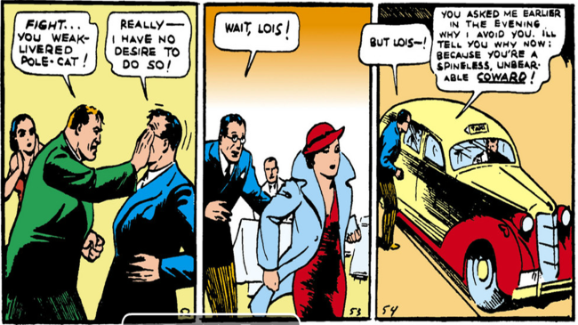 Clark sticks to his persona - Action Comics #1, DC Comics