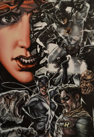 A flashback featuring Batman, Robin (Jason Todd), and Catwoman - Batman: Noël, DC Comics