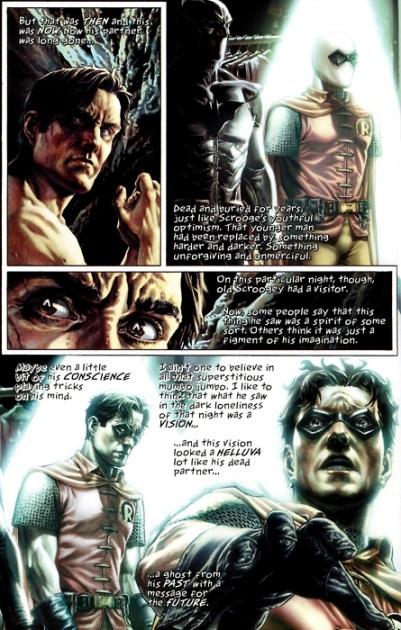 Jason Todd appears to Batman - Batman: Noël, DC Comics