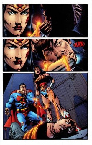 """Wonder Woman kills Maxwell Lord - """"Wonder Woman"""" vol. 2 #219, DC Comics"""