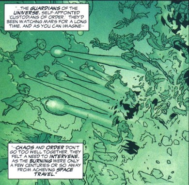 The Guardians of Oa vs the Burning Martians - JLA #87, DC Comics