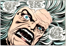 Granny Goodness raging over Scott Free, aka Mister Miracle - DC Comics