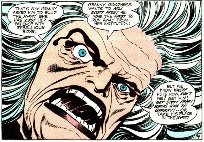 Granny Goodness raging over Scott Free, aka Mister Miracle - DC Comics