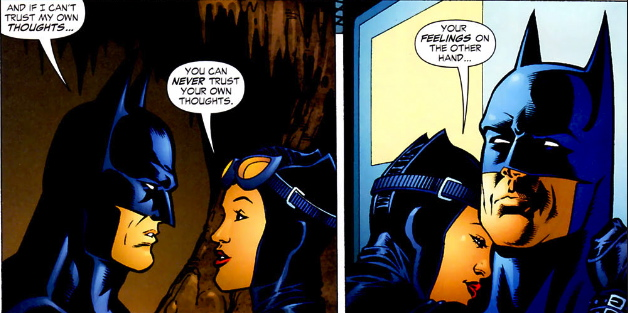 Catwoman before learning of Zatanna's magical influence on her - JLA #115, DC Comics