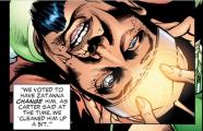Zatanna's mindwipe of Doctor Light - JLA #115