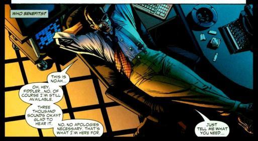 Noah Kuttler, aka the Calculator - Identity Crisis #4, DC Comics