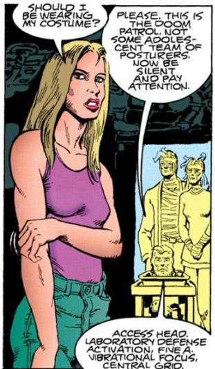 The Chief prepares to test Coagula - Doom Patrol #71, DC Comics