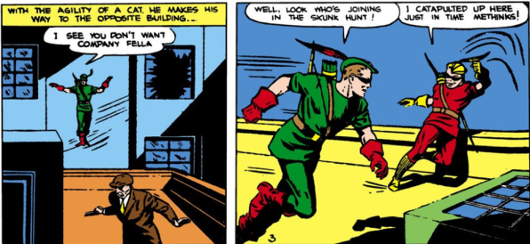 green arrow and speedy chase