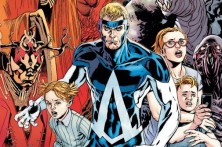 Animal Man and his family: Maxine, Ellen, and Cliff - Animal Man #12, DC Comics