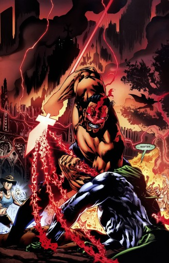 The Spectre at the mercy of Vandal Savage as Cain - Final Crisis: Revelations #3, DC Comics