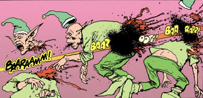 Three kills with one shot - The Lobo Paramilitary Christmas Special #1, DC Comics