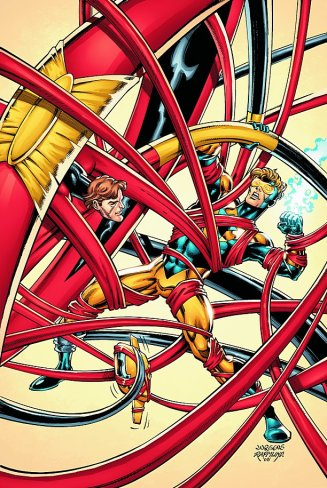 The Elongated Man takes on Booster Gold - Booster Gold #15, DC Comics