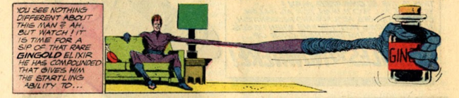 Elongated Man reaches for his Gingold - DC Comics