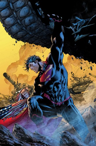 Superman, inexplicably muscled - Superman Unchained #2, DC Comics
