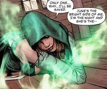The Enchantress searching for June Moone - Justice League Dark #4, DC Comics