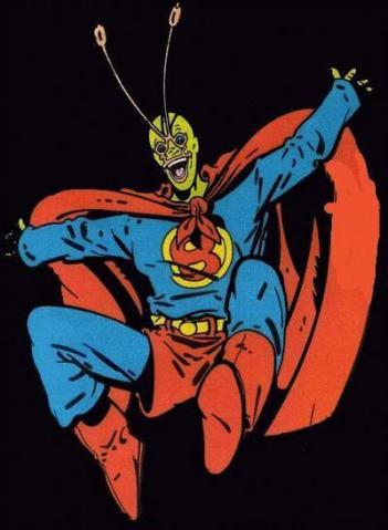Ambush Bug, dressed as his idol - Ambush Bug #1, DC Comics