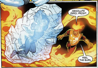 Killer Frost defeated by Firestorm - DC Comics