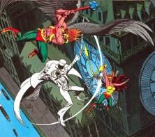 Gentleman Ghost vs. Hawkman and Hawkgirl - DC Comics