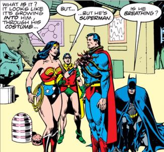 Superman under the Black Mercy's control - Superman Annual #11, DC Comics