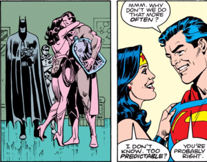 Wonder Woman gives Superman his birthday gift - Superman Annual #11, DC Comics