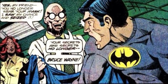 Hugo Strange learns Batman's secret identity - Detective Comics #471, DC Comics