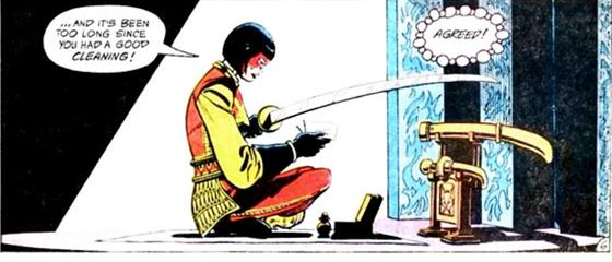 Katana speaks with the Soultaker - DC Comics