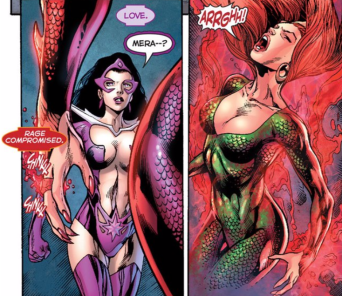 Mera's love for Aquaman breaks her rage - Blackest Night #8, DC Comics