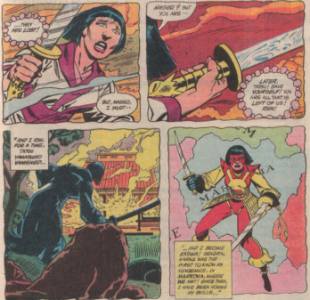 Tatsu becomes Katana as her family dies - Batman and the Outsiders #12, DC Comics