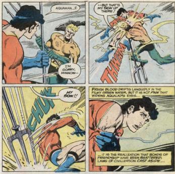 Aquaman turns on Aqualad - Adventure Comics #452, DC Comics