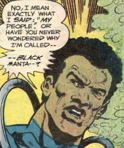 Black Manta is black - Adventure Comics #452, DC Comics