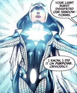 Kimyo Hoshi as the heroic Doctor Light - DC Comics